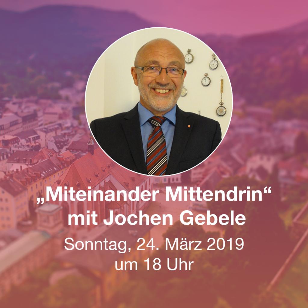 Miteinander Mittendrin mit Jochen Gebele in der Stiftskirche Baden.Baden