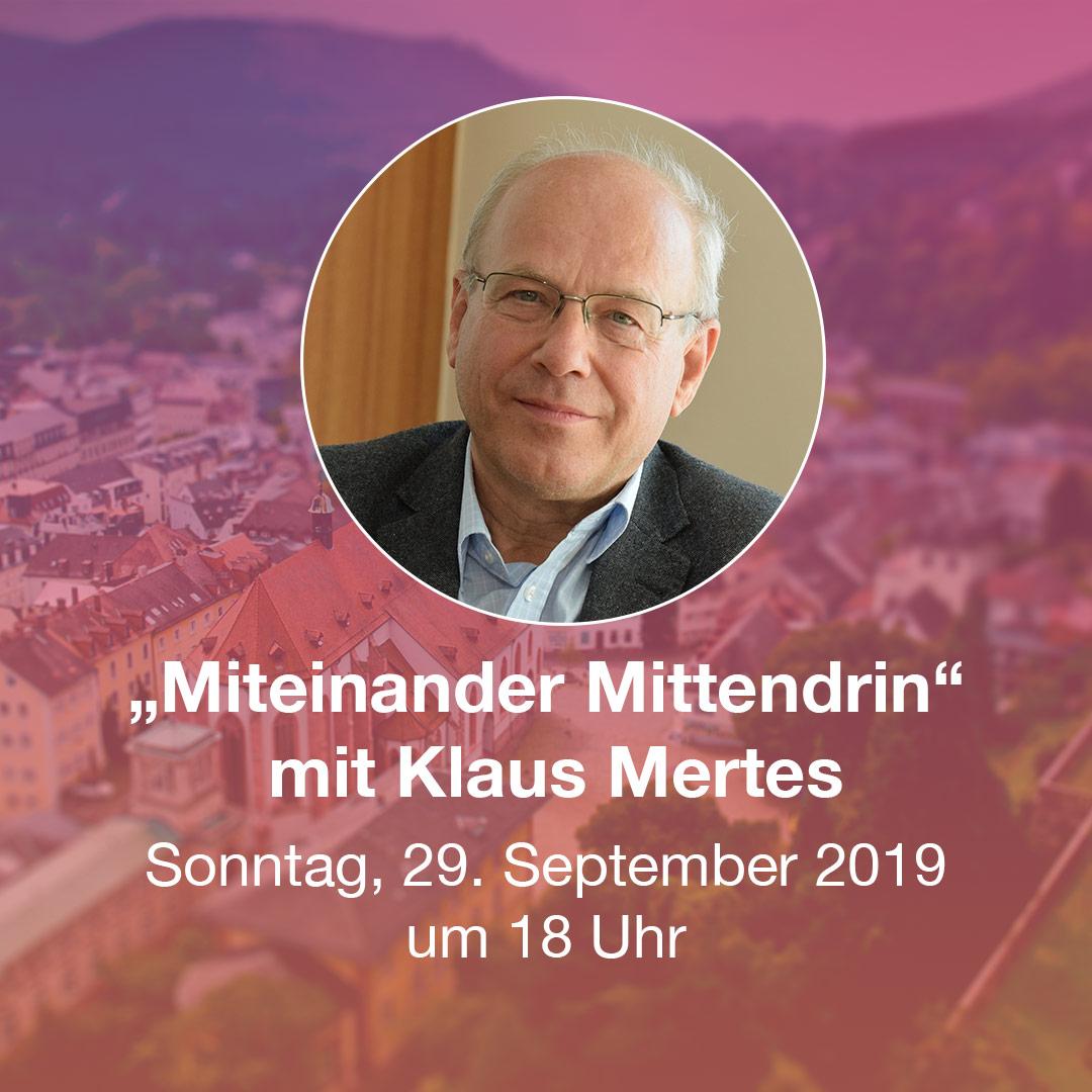 """""""Miteinander Mittendrin"""" Gottesdienst mit Pater Klaus Mertes SJ"""